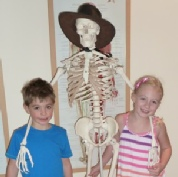 young patients meeting Mr Bones