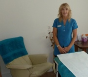 Christine in her treatment room